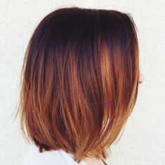 Image result for chestnut brown hair with caramel and copper highlights short hair