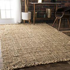 nuLOOM Natural Collection Chunky Loop Jute Casuals Natura... https://smile.amazon.com/dp/B003YP99KK/ref=cm_sw_r_pi_dp_x_ORMOxbN78XMSM