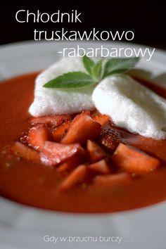 Chłodnik truskawkowo-rabarbarowy z pianką