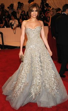 The triple-threat star always makes a point to look flawless at major events, and the 2010 Met Ball was no different. She dazzled in a crystallized Zuhair Murad strapless gown, which was paired with Sergio Rossi slingbacks, Stephen Russell jewels and a Judith Leiber clutch.