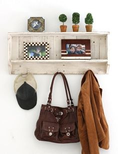 Distressed entry/multi-purpose shelf for mud rooms, entry ways and more!