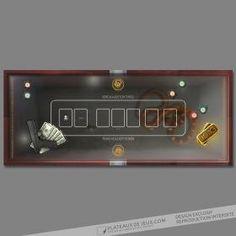Tapis Poker Triades - PlateauxdeJeux.com