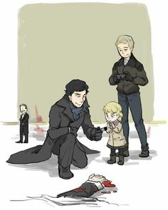 Awww, both Sherlock,and John. Are the best father figure. for that kid!<<<You probably shouldn't take a child to a crime scene, Sherlock<<<but Jawn its a CASE Benedict Sherlock, Sherlock John, Benedict Cumberbatch, Sherlock Fandom, Bbc Sherlock Holmes, Sherlock Fan Art, Watson Sherlock, Jim Moriarty, Sherlock Quotes