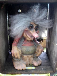 Vintage Troll Ny Form Wrinkly Old man sitting on by jonscreations, $45.00