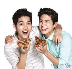 Song Joong ki and Park Bo Gum for Domino's Pizza
