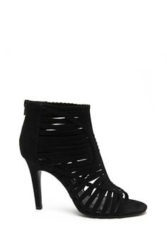 Strappy Braided Heels (Black)