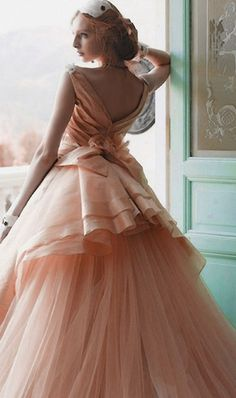 serve beneath the folds of the soot-dark robes. Fairytale Fashion, Pink Gowns, Beautiful Gowns, Dream Dress, Pretty Dresses, Evening Gowns, Marie, Wedding Gowns, Look