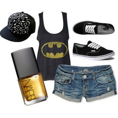outfit i got just because Liam wanted me to because it had Batman on It. Skater Girl Style, Skater Girl Outfits, Skater Girls, Batman Outfits, Emo Outfits, Cute Outfits, Rock Outfits, Teen Fashion, Love Fashion