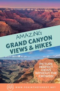 Get expert advice for the best Grand Canyon North Rim hikes. Tips and tricks for enjoying the Grand Canyon North Rim hiking trails without the crowds. Grand Canyon Hiking, Grand Canyon Vacation, Visiting The Grand Canyon, Grand Canyon National Park, Usa Travel Guide, Travel Usa, Travel Tips, Travel Guides, Arizona Travel