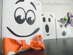 Fun Face Ghost Blocks - www.OurThriftyIdeas.com