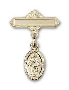 ReligiousObsession's Gold Filled Baby Badge with Scapular Charm and Polished Badge Pin *** Continue to the product at the image link. (This is an affiliate link and I receive a commission for the sales)