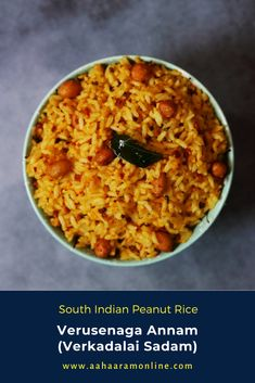 This is an easy to make, nutty rice that uses peanuts in two ways; ground into the spice paste and whole in the tempering. I made this on Saturday as a one-dish meal so that I had time for Diwali prep. #rice #ricerecipes #peanuts #peanutrice #vegan #veganfood #vegetarian #recipe #indianfood Andhra Recipes, Indian Food Recipes, Ethnic Recipes, Peanut Rice Recipe, Rice Recipes, Vegan Recipes, Coconut Curry, Tamarind, Diwali