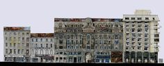 120 x 45 cm - old buildings in Bucharest - Victoriei Avenue   #drawingarchitecture #watercolour drawing architecture illustration art pencil submission