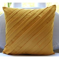 Contemporary Mustard - Suede Pillow in Mustard  40 from TheHomeCentric by DaWanda.com