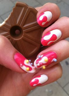 candy nails with sprinkles