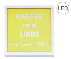 LED-Wand-Schild Coffee, 21 x 21 cm