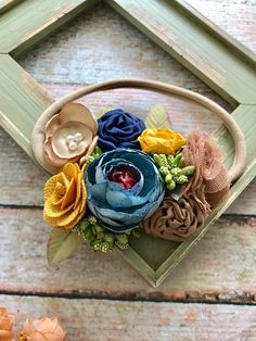 A personal favorite from my Etsy shop https://www.etsy.com/listing/556757395/fall-flower-headband-faded-blue-and