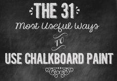 The 31 Most Useful Ways To Use ChalkboardPaint