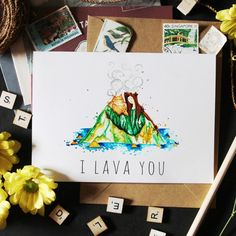 I have a dream, I hope will come true! I Lava You cards now available ✨