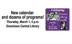 2018 Event - Women's History Kickoff March 1 @ Central Library