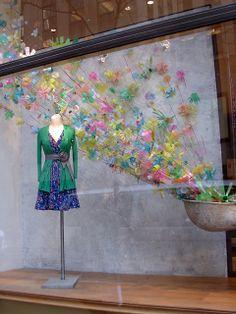 "Beautiful Window Displays!: Anthropologie ""Plastic Bottles in Bloom"" Window Displays"