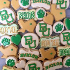 For all the Baylor Bears out there: custom Baylor cookies! #SicEm