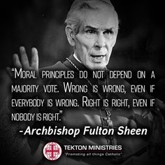 ~Archbishop Fulton Sheen Catholic Beliefs, Catholic Quotes, Catholic Prayers, Religious Quotes, Catholic Saints, Roman Catholic, Christianity, Great Quotes, Inspirational Quotes