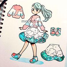 Meyoco. Several fashion-themed doodles I did a few weeks back!