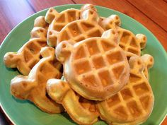 #Shrek - shaped waffles!!! At #Summer Fun with #Shrek and Friends with Gaylord Hotels