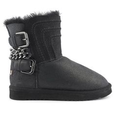 EVEET Black napa studded edge Chelsea boot rubber sole