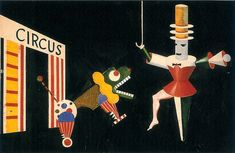 Xanti Schawinsky, Circus Stage Project (early 1920's)