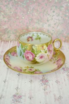 Antique Royal Vienna teacup and saucer