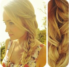 This is actually my go-to hairstyle of the moment because it's so easy and so pretty. Simply braid one of your three-section braid strands before doing a traditional side braid. It gives the braid a little more dimension on dry or damp hair.