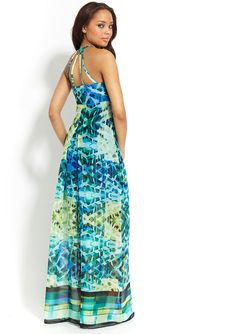 ideeli | MARC NEW YORK Sleeveless Printed Maxi Dress