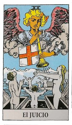 The origins of the Tarot are surrounded with myth and lore. The Tarot has been thought to come from places like India, Egypt, China and Morocco. Others say the Tarot was brought to us fr Judgement Tarot Card, Wicca, Magick, Witchcraft, Tarot Significado, Rider Waite Tarot Cards, Tarot Gratis, Tarot Learning, Tarot Card Meanings