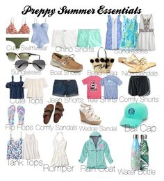 """""""Preppy Summer Essentials"""" by ctrygrl1999 ❤ liked on Polyvore featuring J.Crew, Lilly Pulitzer, Calypso St. Barth, Ray-Ban, Sperry, Kate Spade, Jack Rogers, Tory Burch, H&M and Aéropostale"""