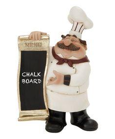Look at this #zulilyfind! Chef 'Menu' Chalkboard Figurine #zulilyfinds