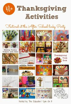 Thanksgiving Activities for School Aged Kids from The Educators' Spin On It