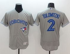 c5a59577d Blue Jays  2 Troy Tulowitzki Grey Flexbase Authentic Collection Stitched  MLB Jersey Troy Tulowitzki