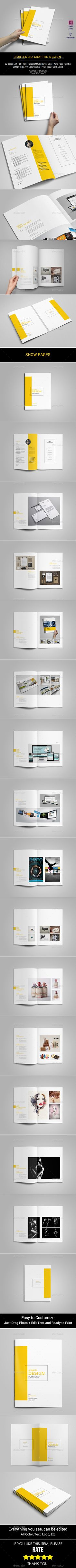 This is 32 page minimal brochure template is for designers working on product/graphic design portfolios interior design catalogues, product catalogues, and agency based projects. Just drop in your own images and texts, and its Ready to Print. Portfolio Design, Mise En Page Portfolio, Portfolio Layout, Template Portfolio, Book Design, Layout Design, Print Design, Web Design, Magazine Ideas