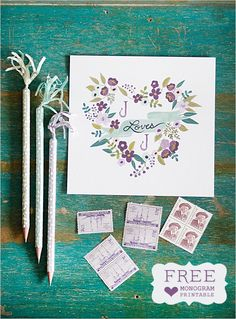 Background color complements card colors. Related accessories - stamps & pencils