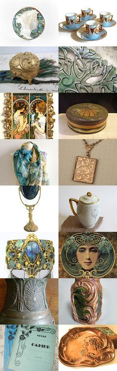 The Golden Age of Art Nouveau by Diane Waters on Etsy--Pinned with TreasuryPin.com