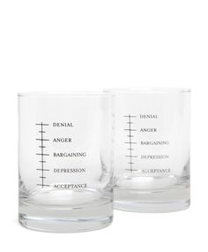 Jack Spade Grief Glasses - Will make the perfect whiskey glasses!