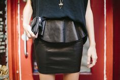 Torn Leather Skirt