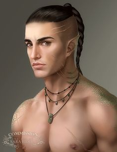 Elf with scars, and an affliction?