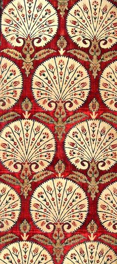 C Ottoman silk textile. Benaki Museum of Islamic Art. Motifs Textiles, Textile Prints, Textile Patterns, Textile Art, Print Patterns, Pattern Art, Pattern Design, Benaki Museum, Motif Art Deco