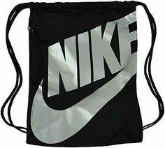 b824d11f64 Nike Unisex Heritage Drawstring Bag Gymsack Black Metallic BA6004-010 #Nike  #Gymsack