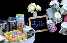Sweet Shoppe Mom: Create a Welcoming Coffee Station for Guests #DunkinCreams #ad