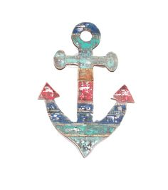 Escape To Paradise Wood Anchor Wall Decor-Multi