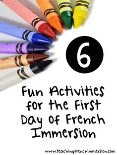 Six Fun First Day of School Activities for French Immersion - Teaching French Immersion: Ideas for the Primary Classroom French Days, High School French, Core French, French Teaching Resources, Teaching Time, Teaching Spanish, Teaching Ideas, First Day Of School Activities, Kindergarten First Day